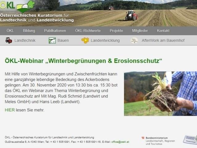 Erosionsschutz im ackerbau